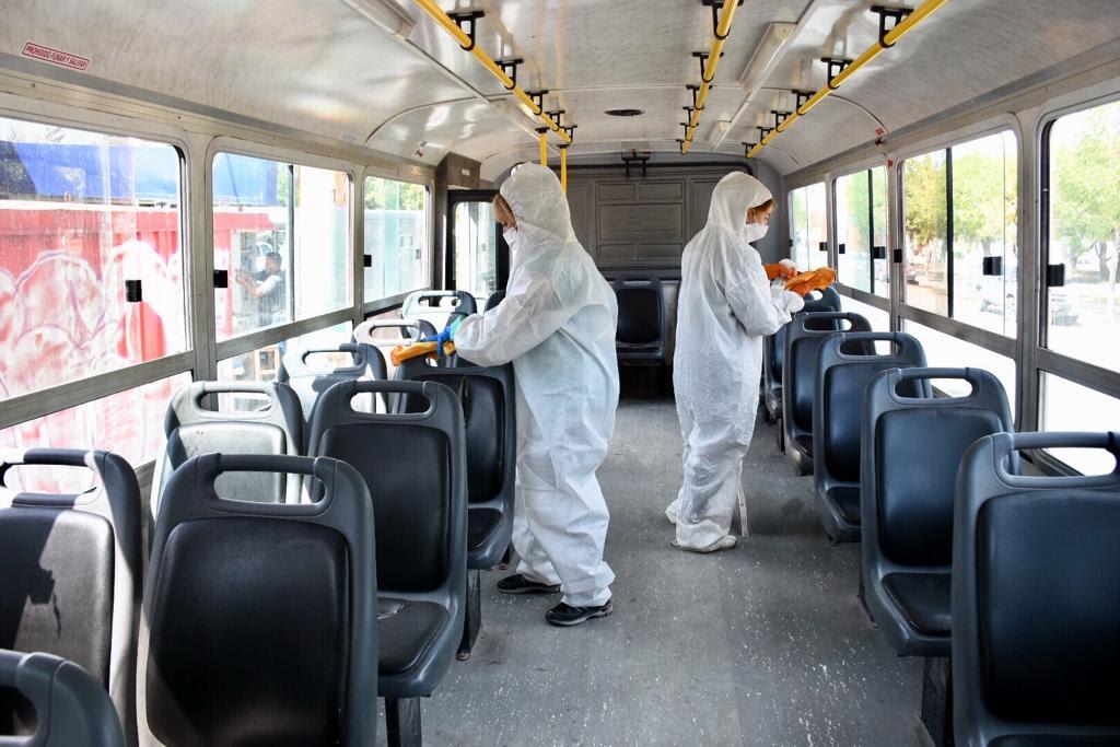 El Municipio realiza desinfección en colectivos taxis y remises ...